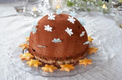 Dôme royal chocolat praliné