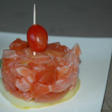 Tartare de saumon gravlax