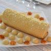 Bûche mousse de foie gras et pommes caramélisées