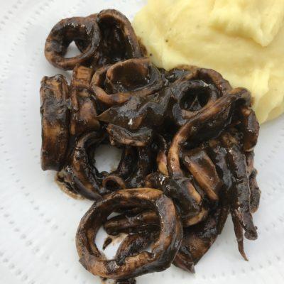 encornets à l'encre de seiche